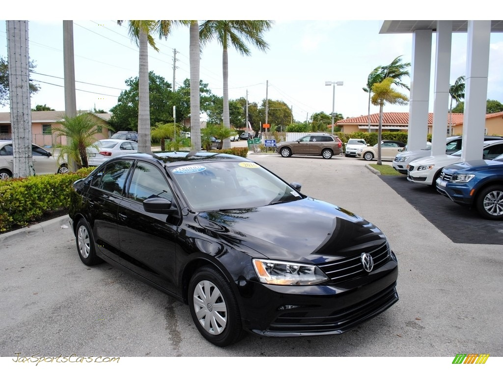 2016 Jetta S - Black / Titan Black photo #1
