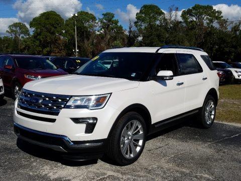 White Platinum 2019 Ford Explorer Limited