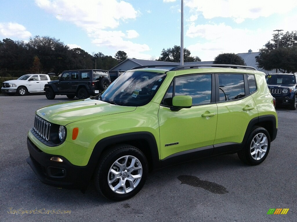 2018 Renegade Latitude - Hypergreen / Black photo #1