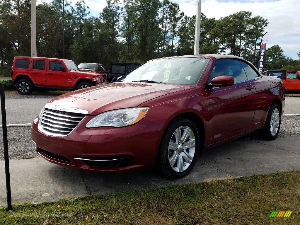 Deep Cherry Red Crystal Pearl Coat / Black/Light Frost Chrysler 200 Touring Convertible