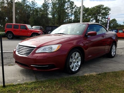 Deep Cherry Red Crystal Pearl Coat 2012 Chrysler 200 Touring Convertible