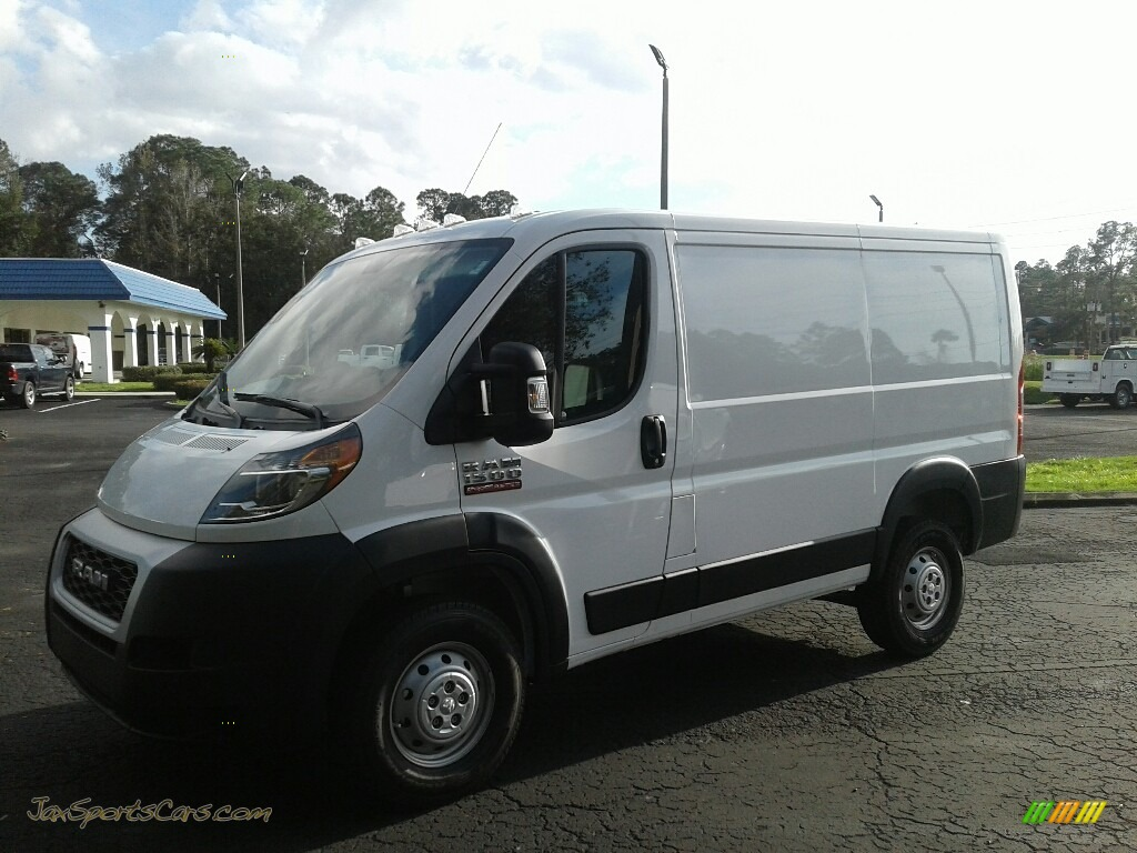 Bright White / Black Ram ProMaster 1500 Low Roof Cargo Van
