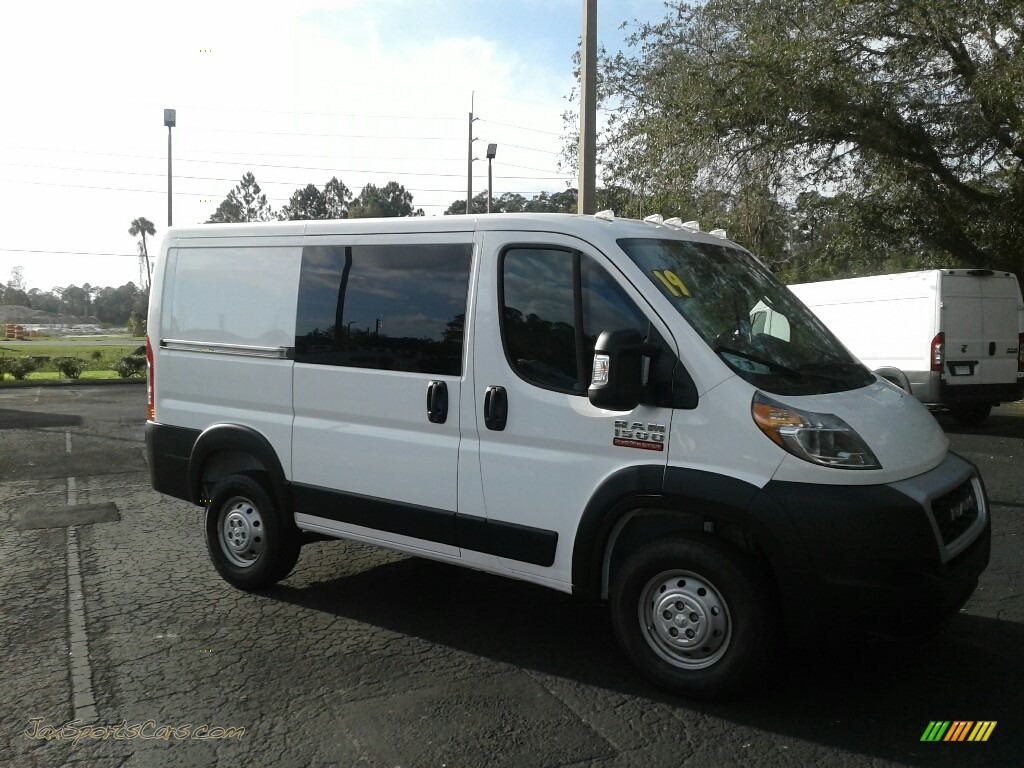 2019 ProMaster 1500 Low Roof Cargo Van - Bright White / Black photo #7
