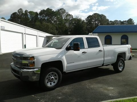 Summit White 2019 Chevrolet Silverado 3500HD Work Truck Crew Cab