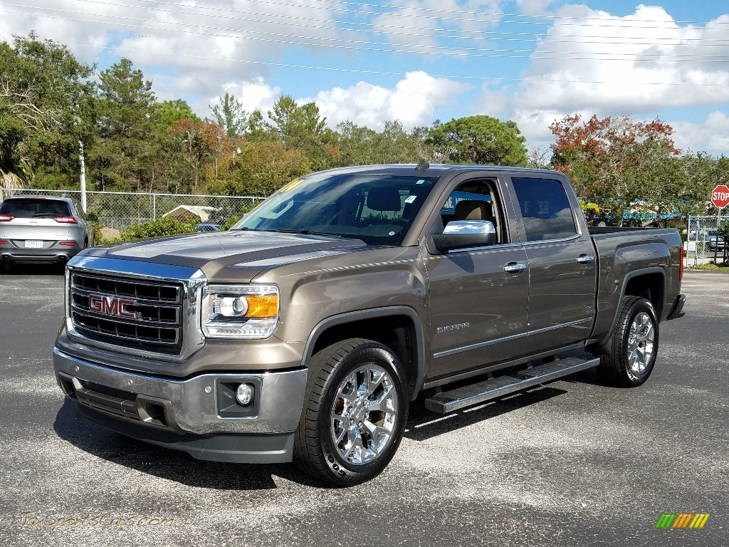 2014 Sierra 1500 SLT Crew Cab - Bronze Alloy Metallic / Cocoa/Dune photo #1