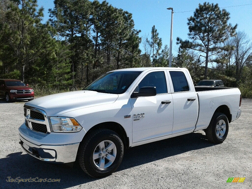 2019 1500 Classic Tradesman Quad Cab 4x4 - Bright White / Black/Diesel Gray photo #1