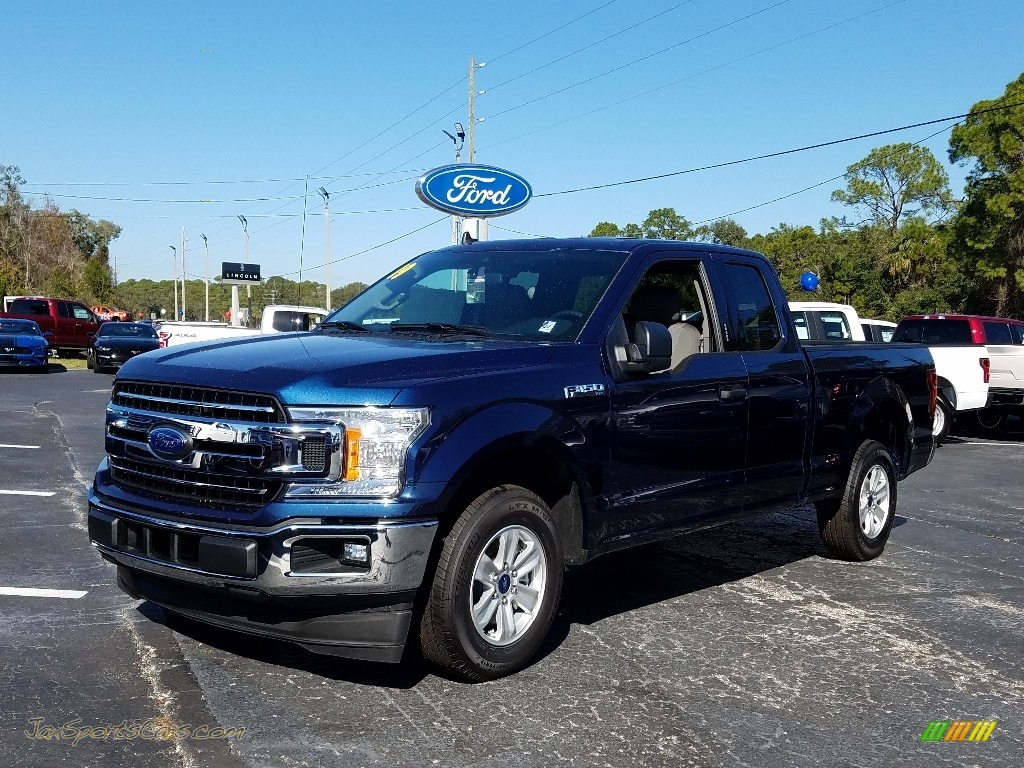 2019 F150 XLT SuperCab - Blue Jeans / Earth Gray photo #1