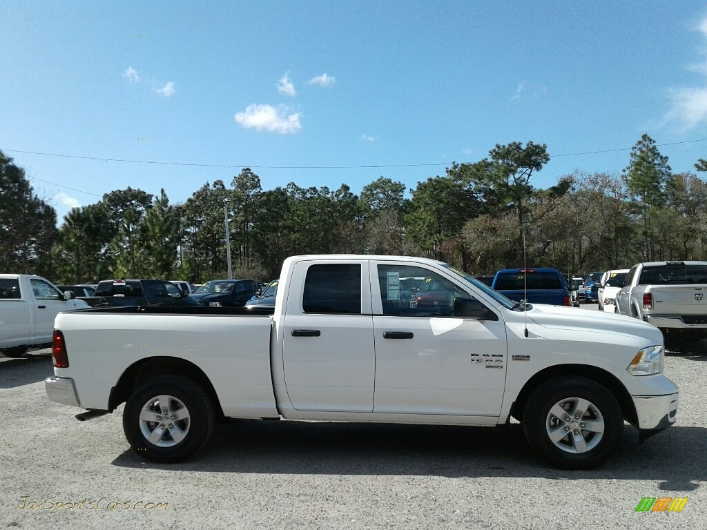 2019 1500 Classic Tradesman Quad Cab - Bright White / Black/Diesel Gray photo #6