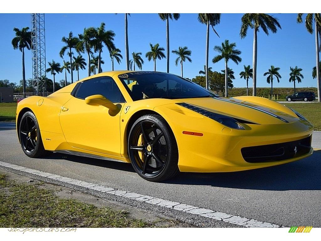 2013 458 Spider - Giallo Modena (Yellow) / Nero photo #1