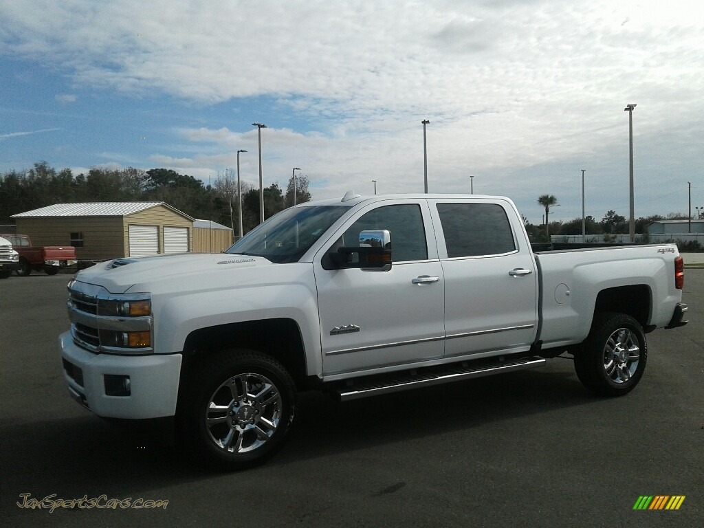 2019 Silverado 2500HD High Country Crew Cab 4WD - Iridescent Pearl Tricoat / High Country Saddle photo #1