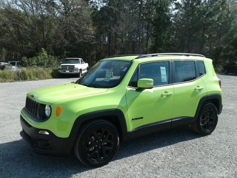 Hypergreen 2018 Jeep Renegade Altitude