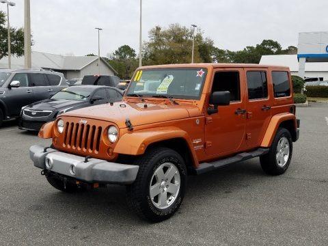 Mango Tango Pearl 2011 Jeep Wrangler Unlimited Sahara 4x4