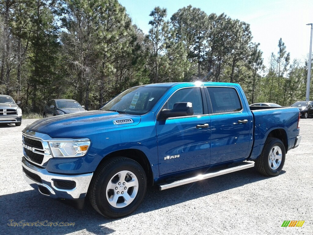 2019 1500 Tradesman Crew Cab - Blue Streak Pearl / Black/Diesel Gray photo #1