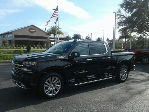 Black 2019 Chevrolet Silverado 1500 High Country Crew Cab 4WD