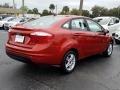 Ford Fiesta SE Sedan Hot Pepper Red photo #5