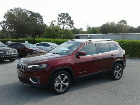 Velvet Red Pearl 2019 Jeep Cherokee Limited