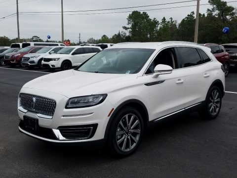 White Platinum 2019 Lincoln Nautilus Select