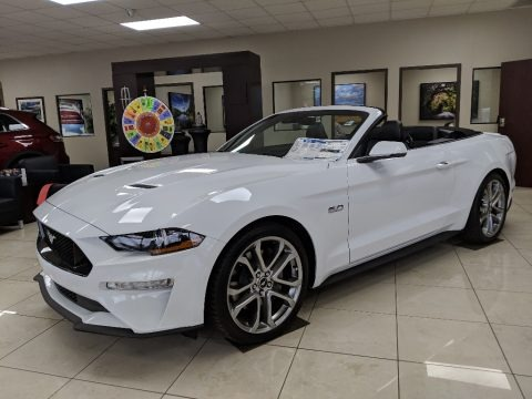 Oxford White 2019 Ford Mustang GT Premium Convertible