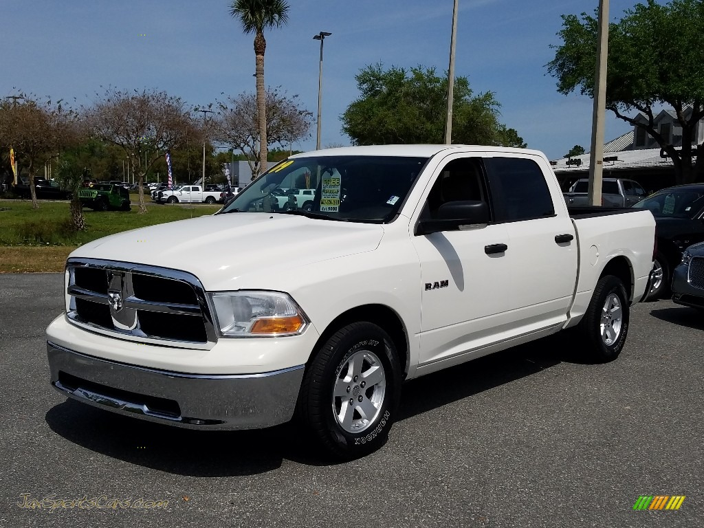 2009 Ram 1500 SLT Crew Cab - Stone White / Light Pebble Beige/Bark Brown photo #1