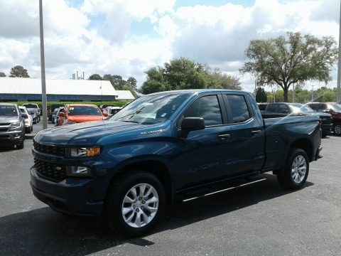 Northsky Blue Metallic 2019 Chevrolet Silverado 1500 Custom Double Cab
