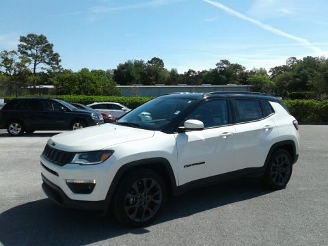 Pearl White Tri–Coat 2019 Jeep Compass High Altitude