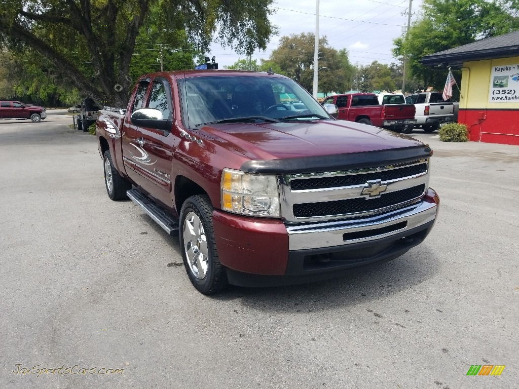 2009 Silverado 1500 LT Extended Cab - Deep Ruby Red Metallic / Ebony photo #1