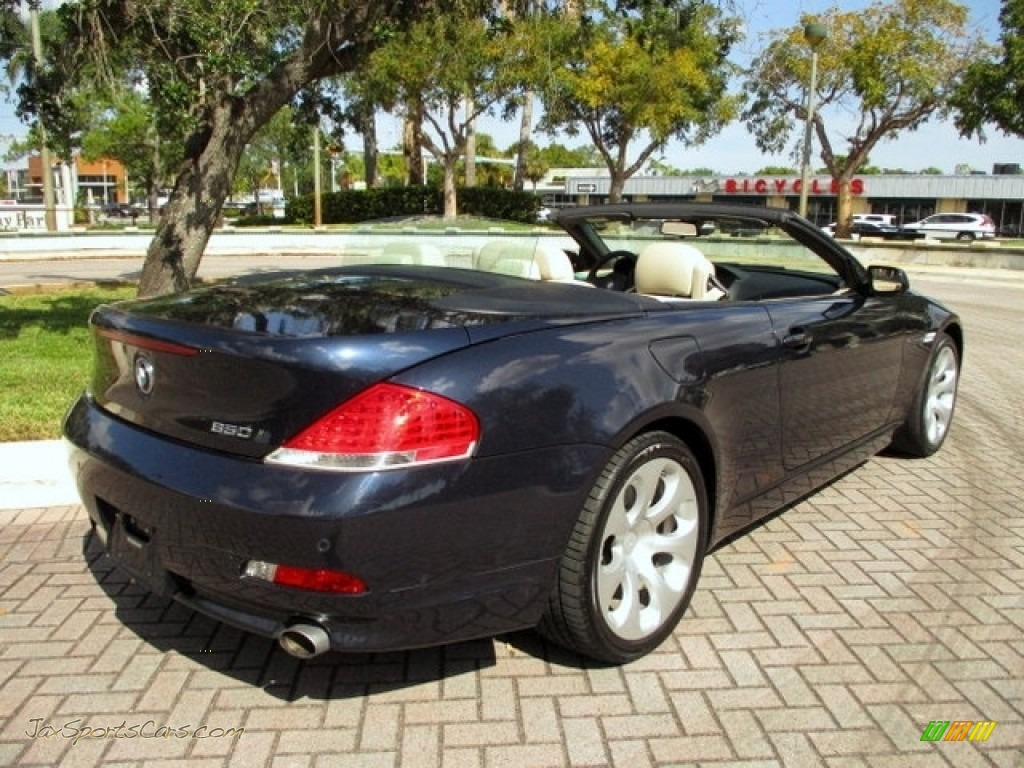 2006 6 Series 650i Convertible - Monaco Blue Metallic / Cream Beige photo #1