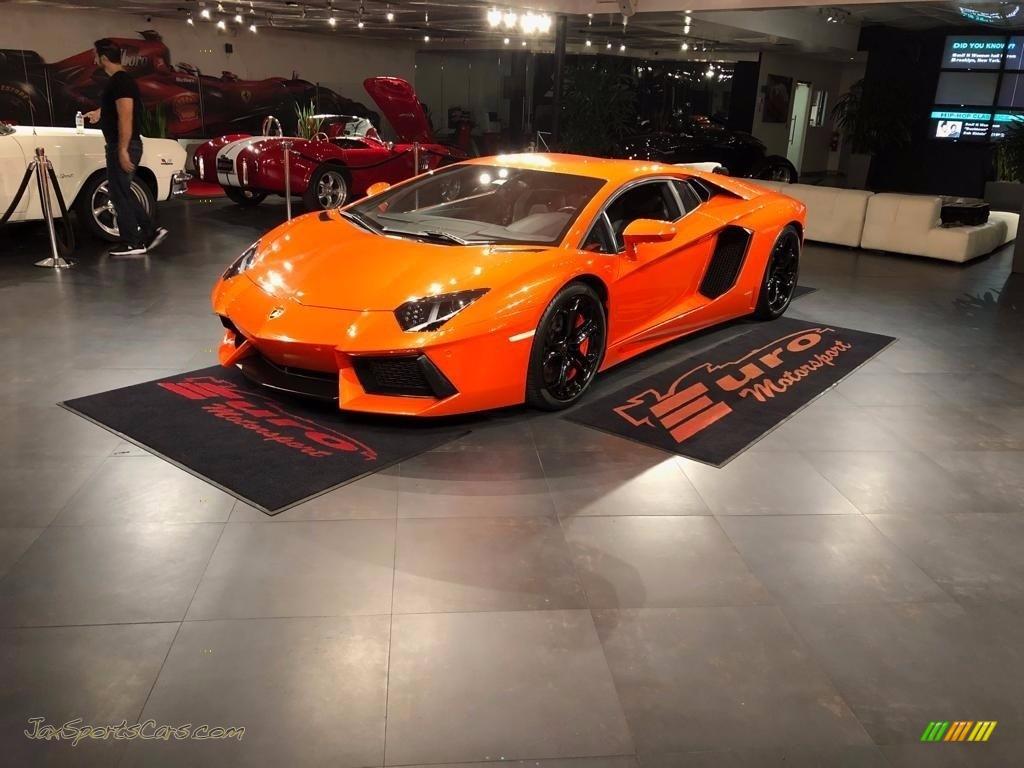2012 Aventador LP 700-4 - Arancio Atlas (Orange) / Nero Ade photo #1
