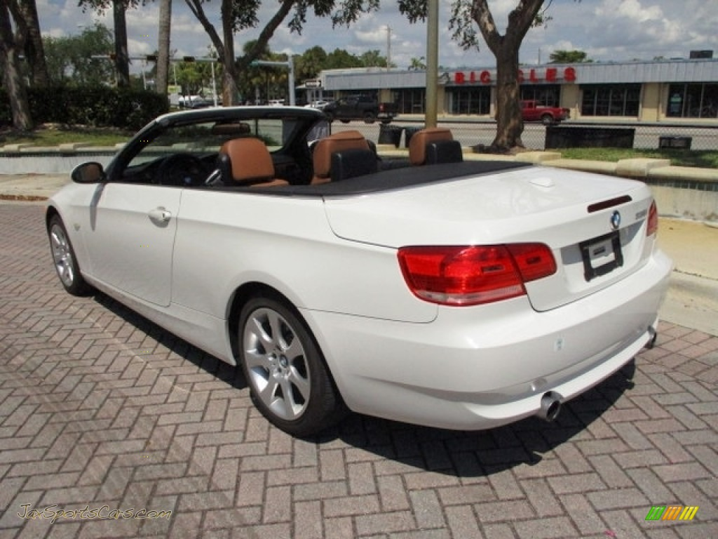 2008 3 Series 335i Convertible - Alpine White / Saddle Brown/Black photo #1