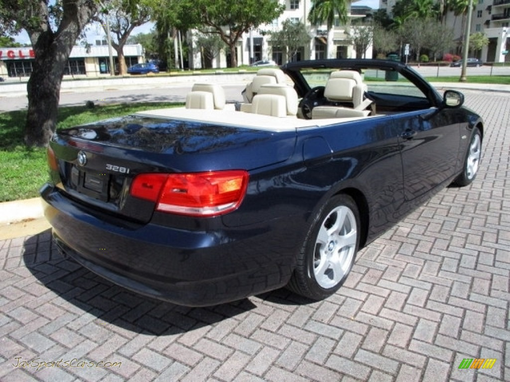 2010 3 Series 328i Convertible - Monaco Blue Metallic / Cream Beige photo #1