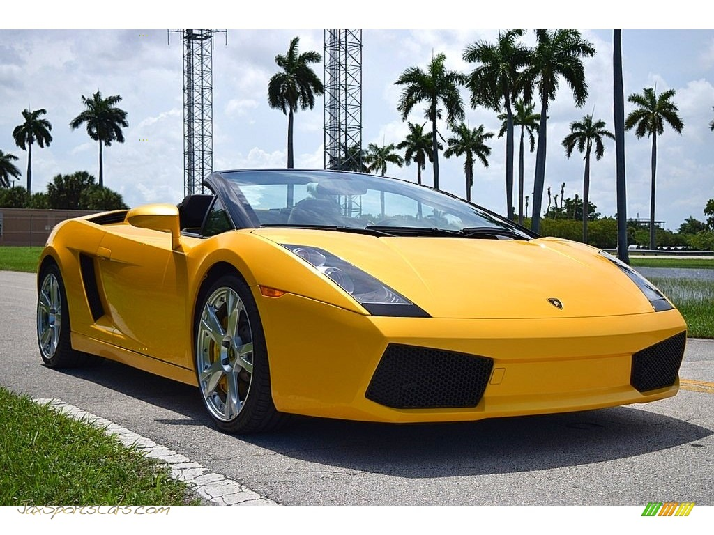 2006 Gallardo Spyder E-Gear - Giallo Midas / Nero Perseus photo #1