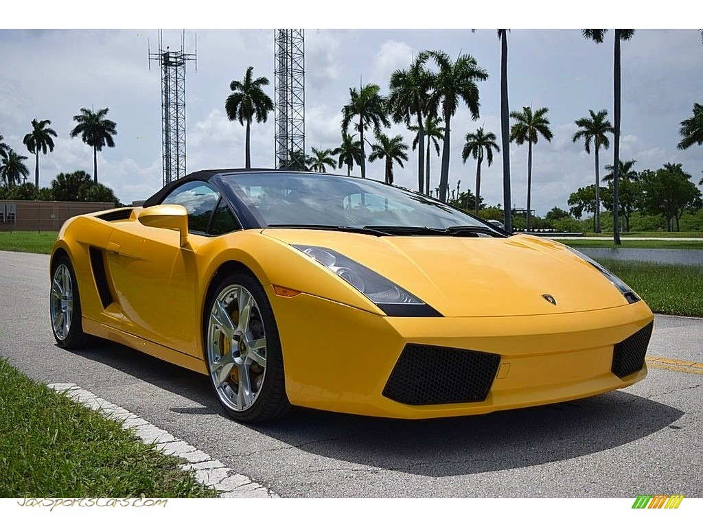 2006 Gallardo Spyder E-Gear - Giallo Midas / Nero Perseus photo #7