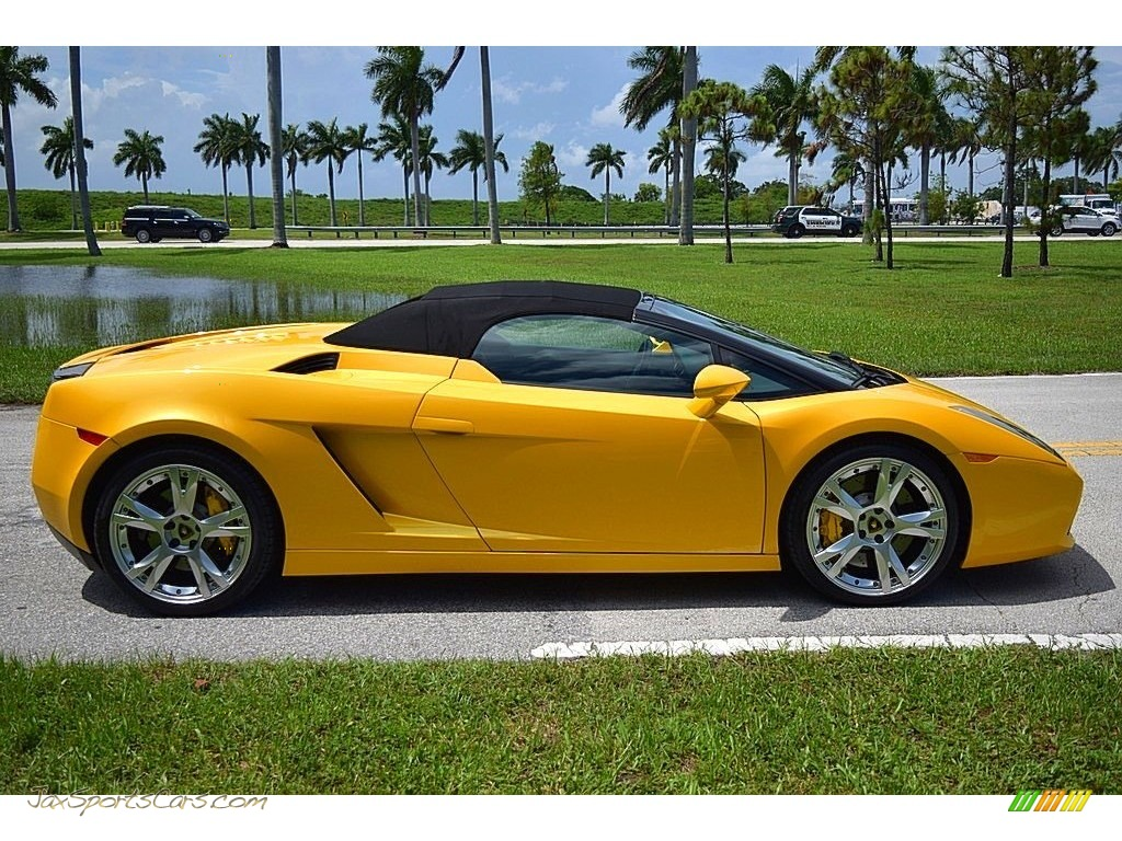 2006 Gallardo Spyder E-Gear - Giallo Midas / Nero Perseus photo #8