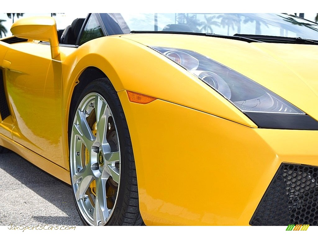 2006 Gallardo Spyder E-Gear - Giallo Midas / Nero Perseus photo #11