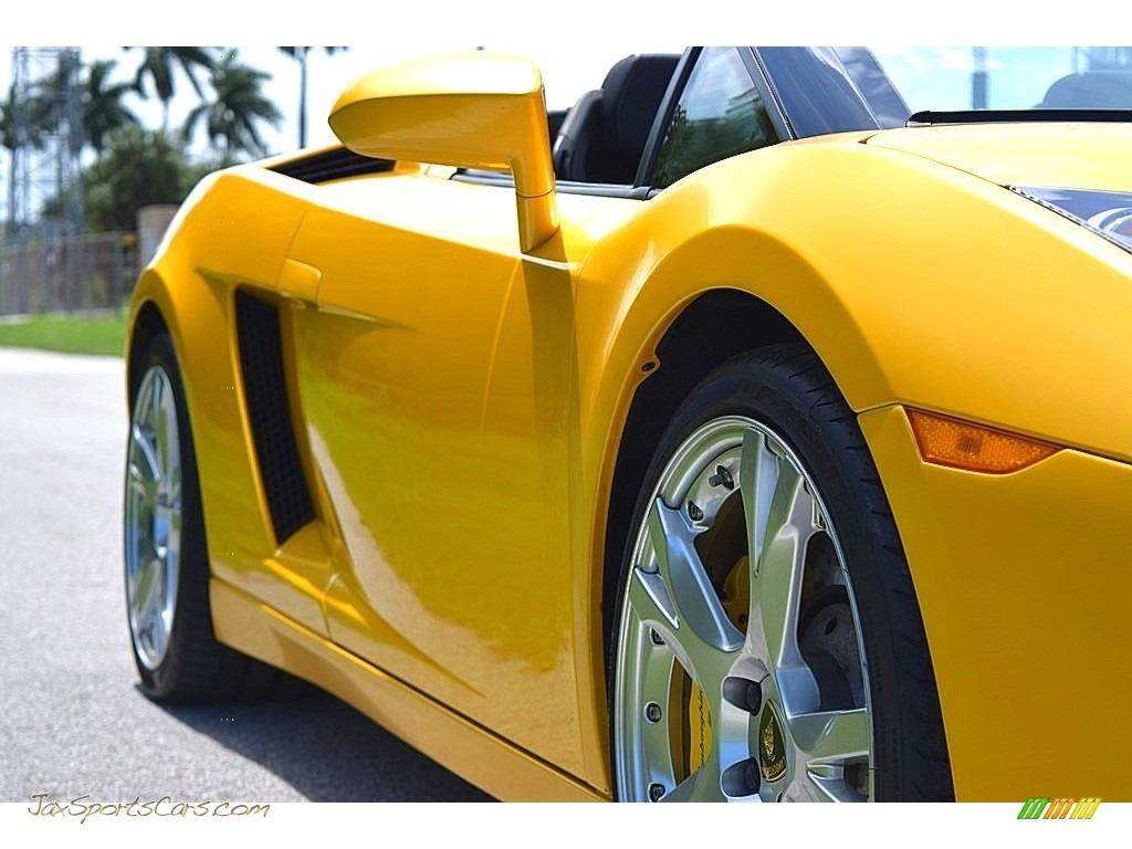 2006 Gallardo Spyder E-Gear - Giallo Midas / Nero Perseus photo #12