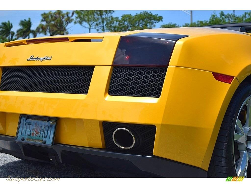2006 Gallardo Spyder E-Gear - Giallo Midas / Nero Perseus photo #14