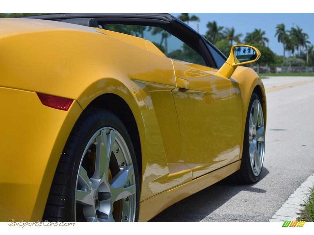 2006 Gallardo Spyder E-Gear - Giallo Midas / Nero Perseus photo #20