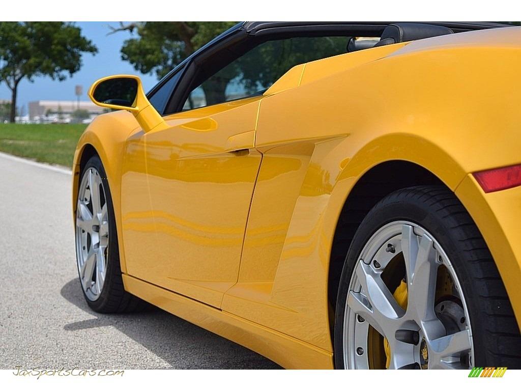 2006 Gallardo Spyder E-Gear - Giallo Midas / Nero Perseus photo #23