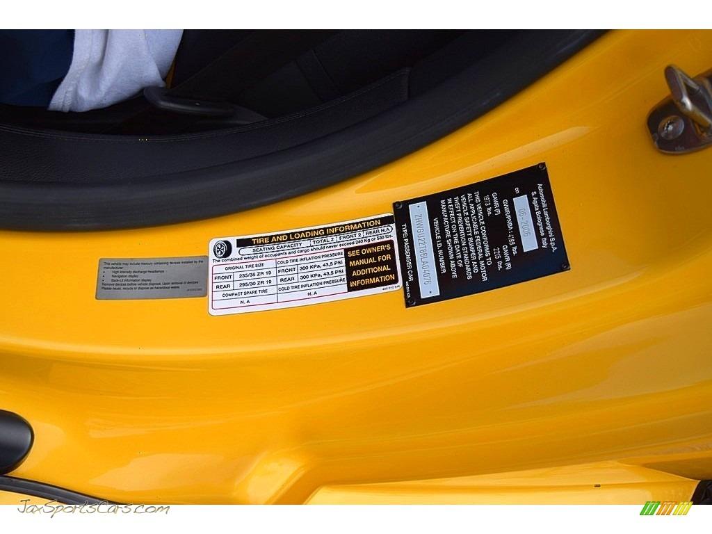 2006 Gallardo Spyder E-Gear - Giallo Midas / Nero Perseus photo #35