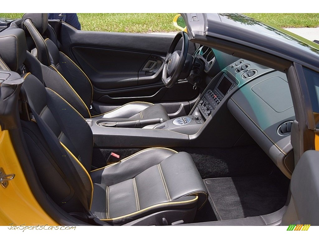 2006 Gallardo Spyder E-Gear - Giallo Midas / Nero Perseus photo #46