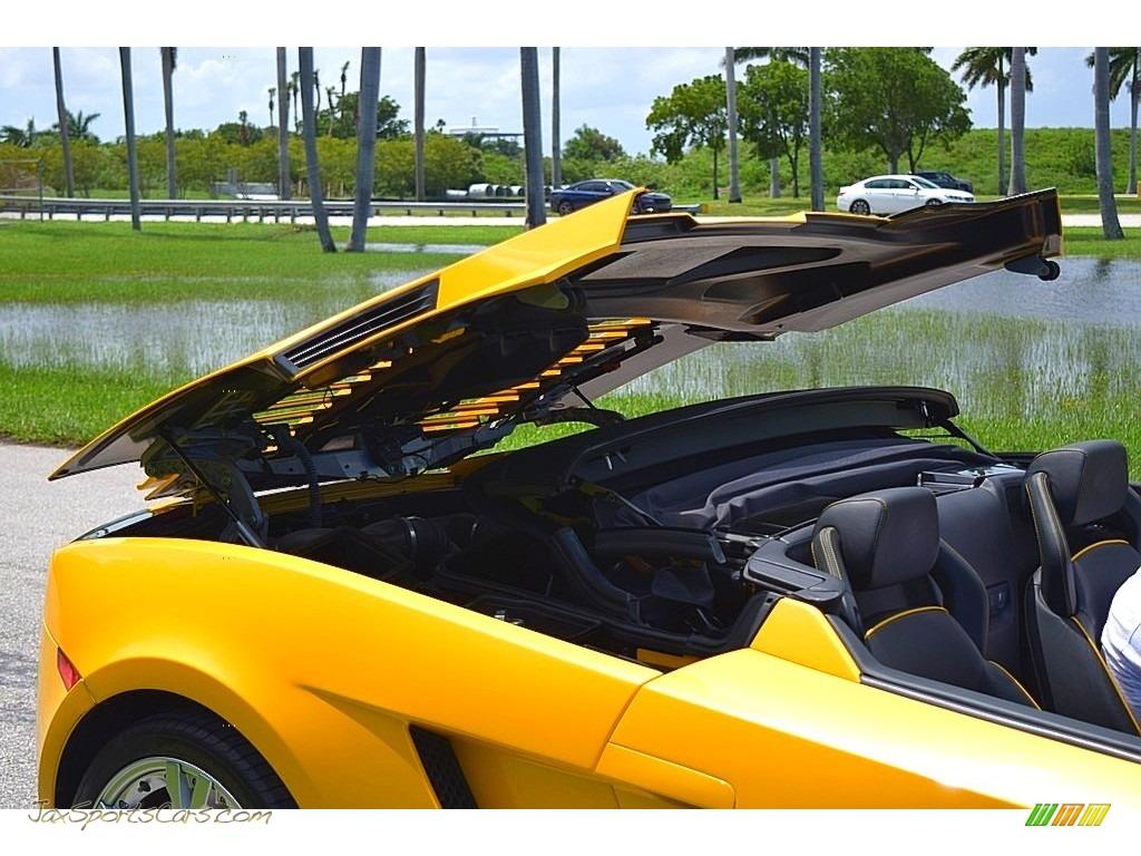 2006 Gallardo Spyder E-Gear - Giallo Midas / Nero Perseus photo #55