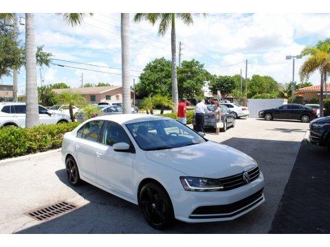 Pure White 2017 Volkswagen Jetta S