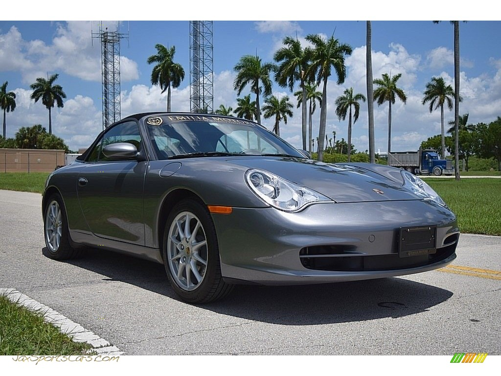 Seal Grey Metallic / Black Porsche 911 Carrera Cabriolet