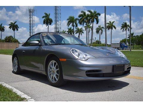 Seal Grey Metallic 2003 Porsche 911 Carrera Cabriolet