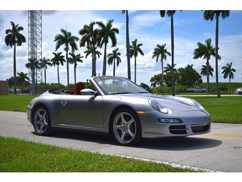 GT Silver Metallic 2006 Porsche 911 Carrera 4 Cabriolet