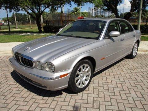 Platinum Silver Metallic 2004 Jaguar XJ XJ8
