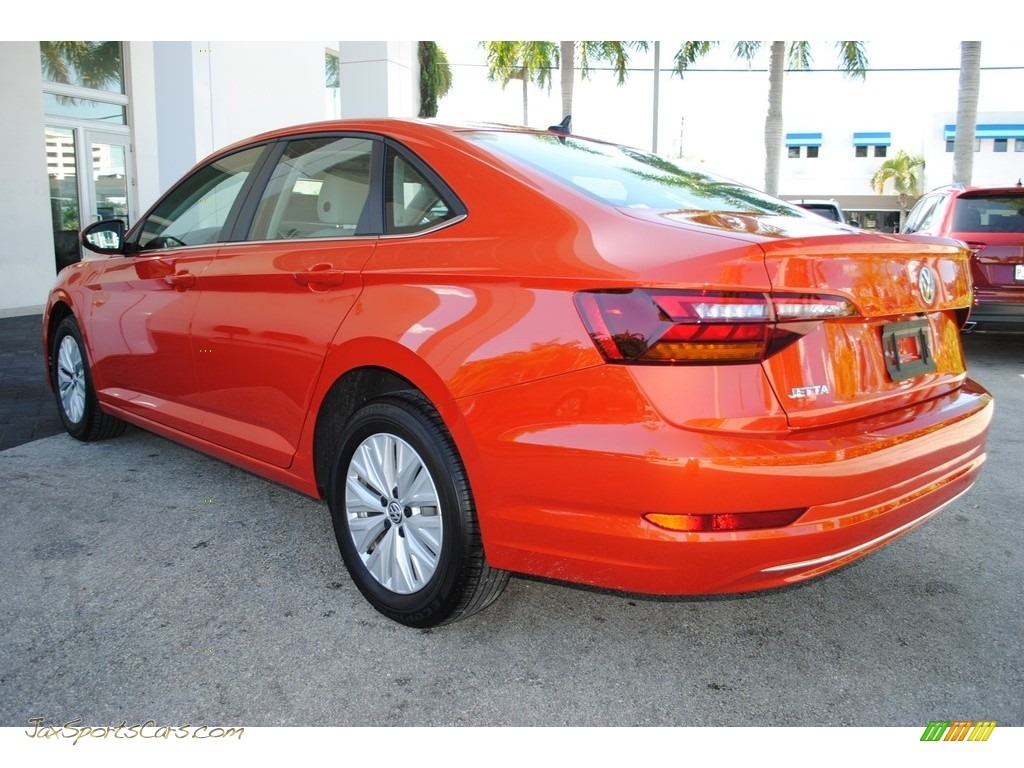 2019 Jetta S - Habanero Orange / Storm Gray photo #7