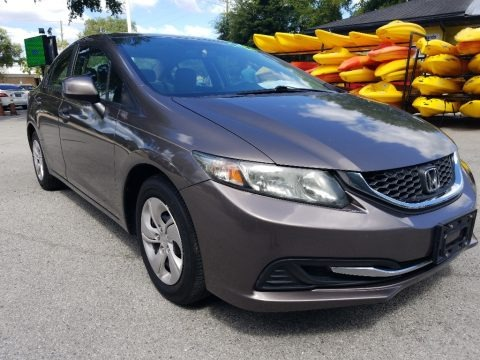 Polished Metal Metallic 2013 Honda Civic LX Sedan