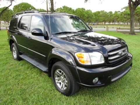 Black 2003 Toyota Sequoia Limited 4WD
