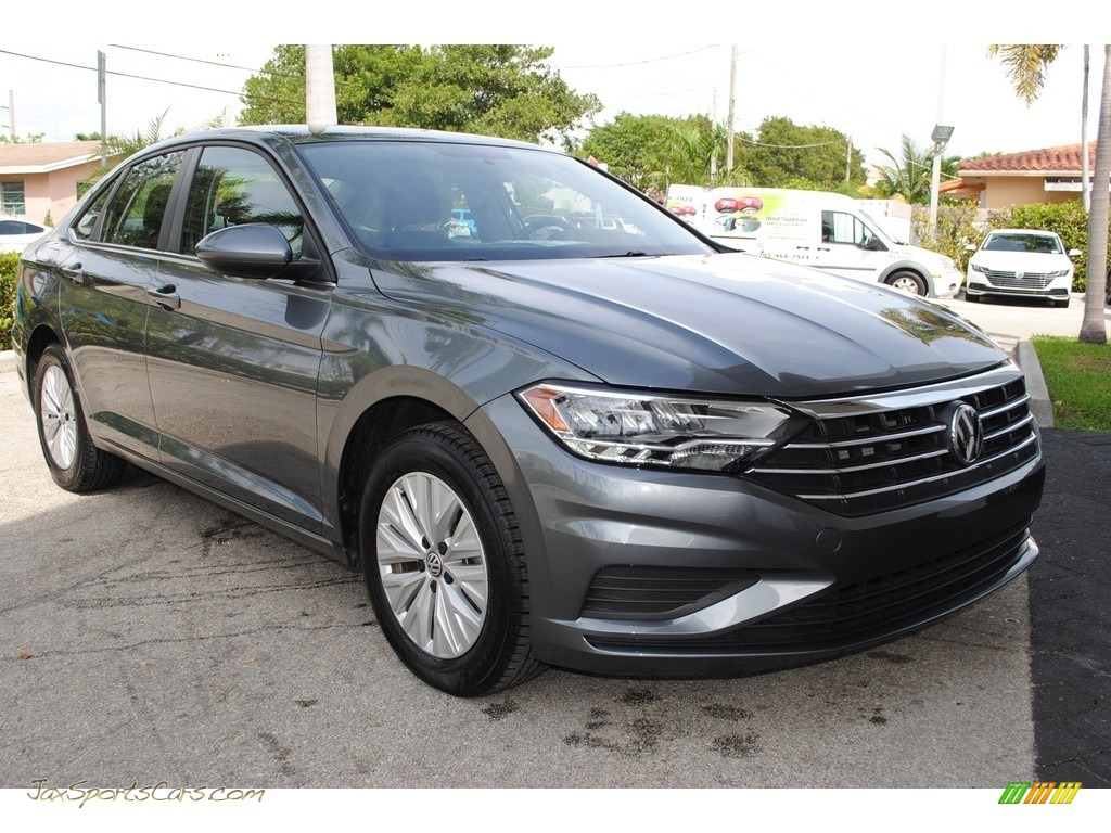 2019 Jetta S - Platinum Gray Metallic / Titan Black photo #2